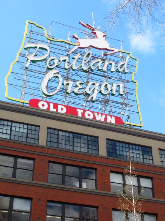 Portland Oregon Sign from Tom McCall Waterfront Park