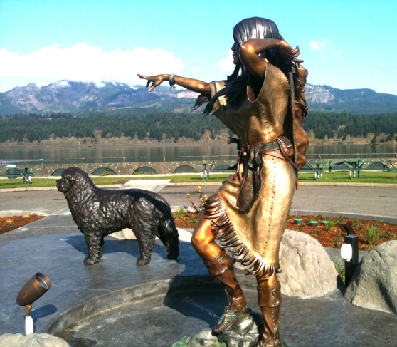 Sacajewea in Cascade Locks