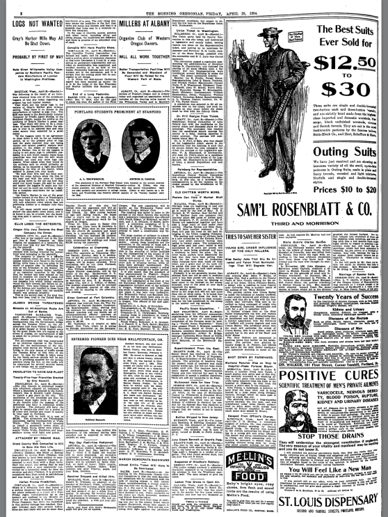 1904-4-20 Oregonian Elis Loses the Meteorite
