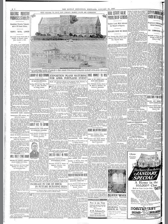 1930-1-12 Oregonian Shelter Built in Park full page