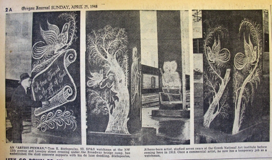 1948-4-25 Oregon Journal Let's Go Down and See.  Lovejoy