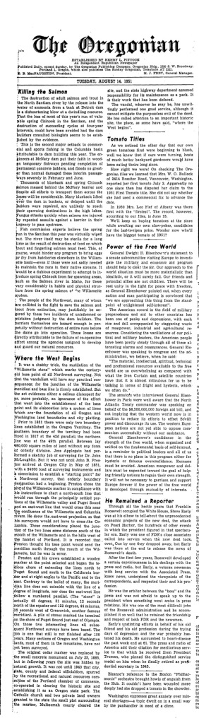 "1951-8-14 Oregonian ""Where the West Began"""