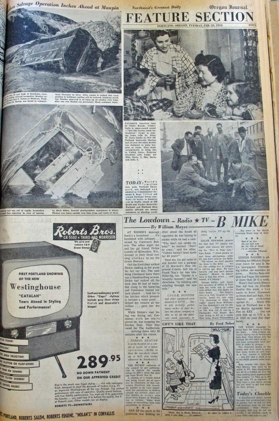 1954-2-23 Journal Portland's Envoy Park
