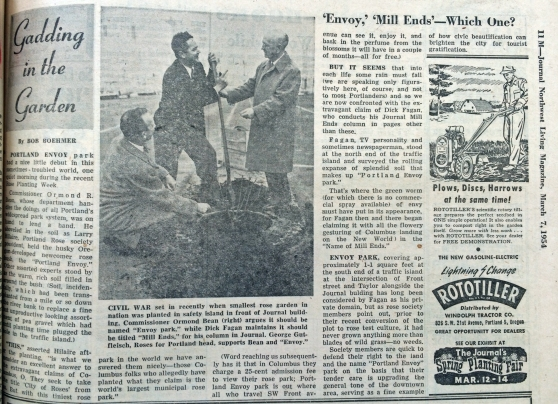 1954-3-7 Journal Gadding in the Garden