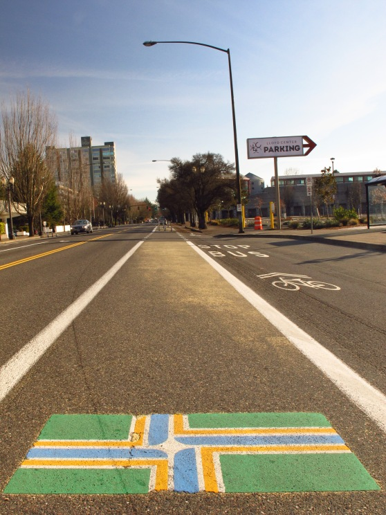 The city employees do this to add flair to our streets and bike lanes