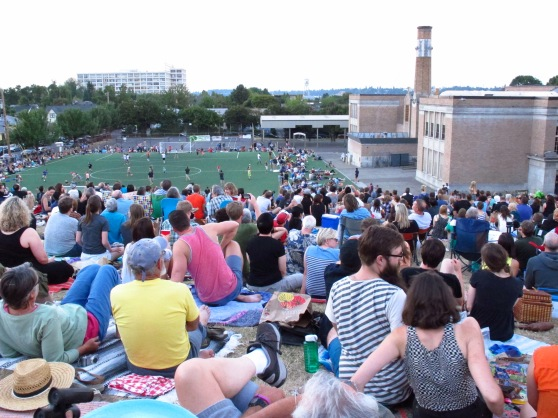 The masses gather in September to watch the Chapman School Swifts