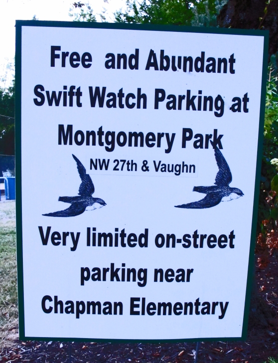 Chapman School Swifts parking at Montgomery Park.