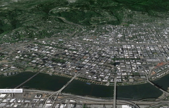 Portland from Google Earth