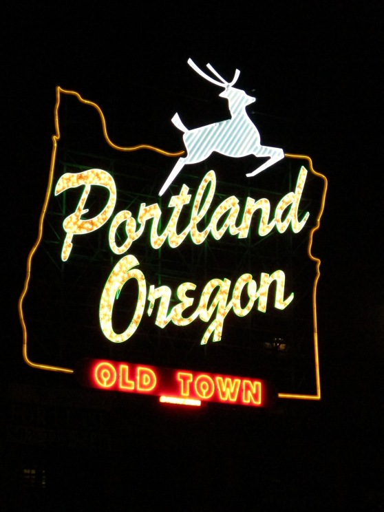 Portland Oregon sign now paid for by the city but still maintained by Ramsay Signs
