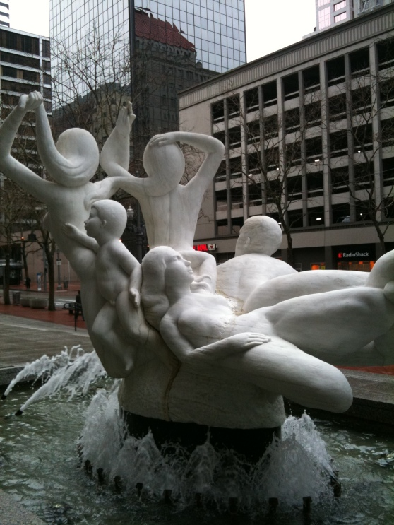 All five groins in the fountain