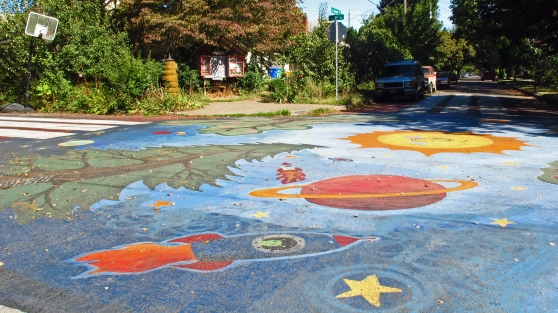 9th and Sherret Sellwood Intersection Art (City Repair)