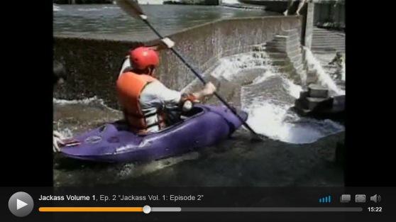 urban kayaking Jackass season 1 episode 2