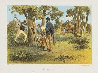 Surveying  using a Gunter's Chain