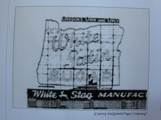 "White Satin Sign ""Portland's Own and Only"""