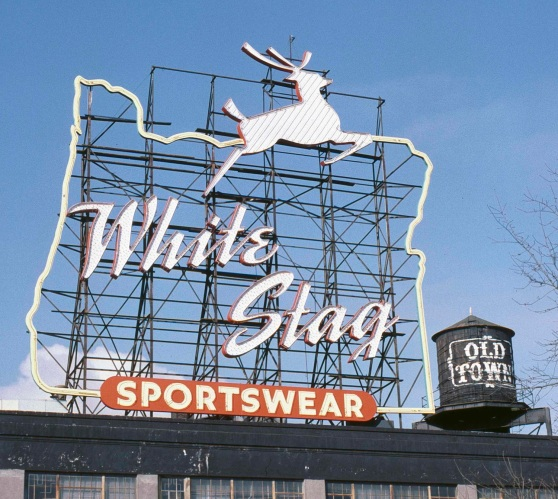 The White Stag sign was in place from 1959 to 1996