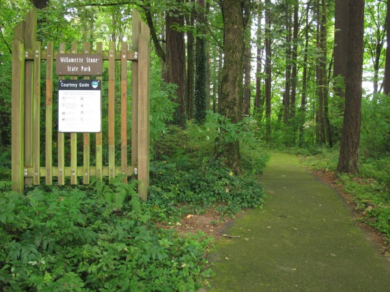 Entering Willamette Stone State Park
