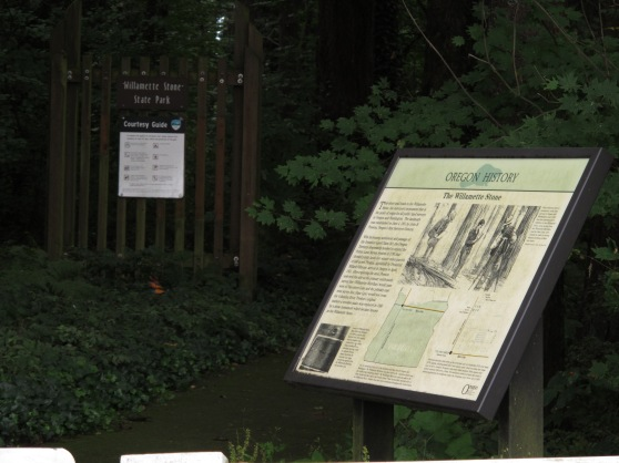 You'll see a plaque at the head of the trail to Willamette Stone State Park