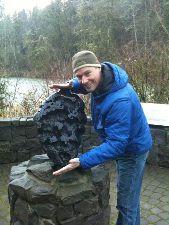 Mini Willamette Meteorite at Fields Bridge Park, West Linn