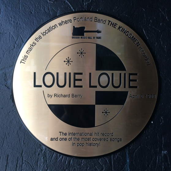 Louie Louie Plaque installed 2014