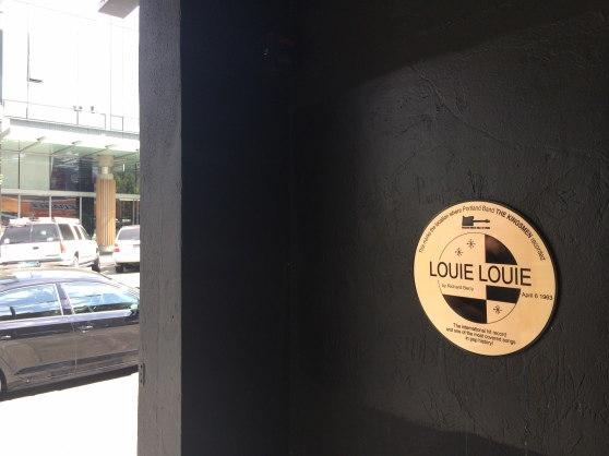 Louie Louie Plaque in doorway