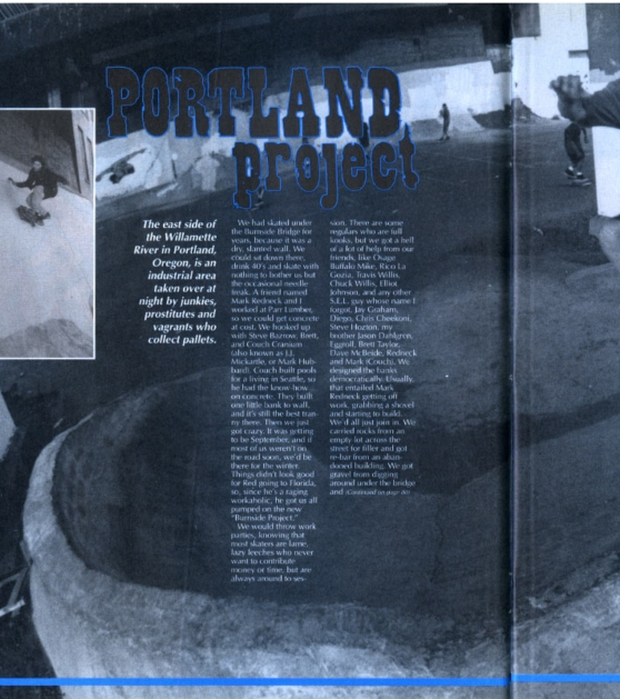 1991-11 Thrasher vol 11 pg  34 The Portland Project