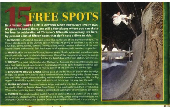 1996-2 Thrasher vol 16 pg 32 Free Spots