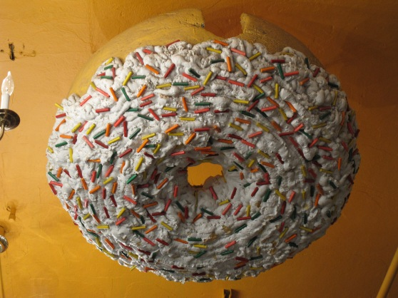 The famed doughnut that was stolen and recovered.
