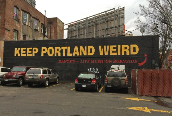 Dante's Keep Portland Weird mural near Voodoo Doughnuts