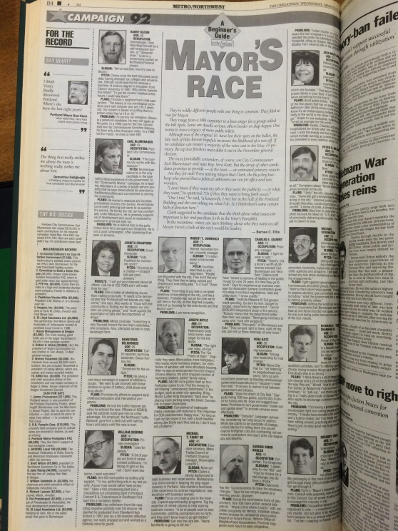 Oregonian 3-18-1992 Tres Shannon running for mayor.