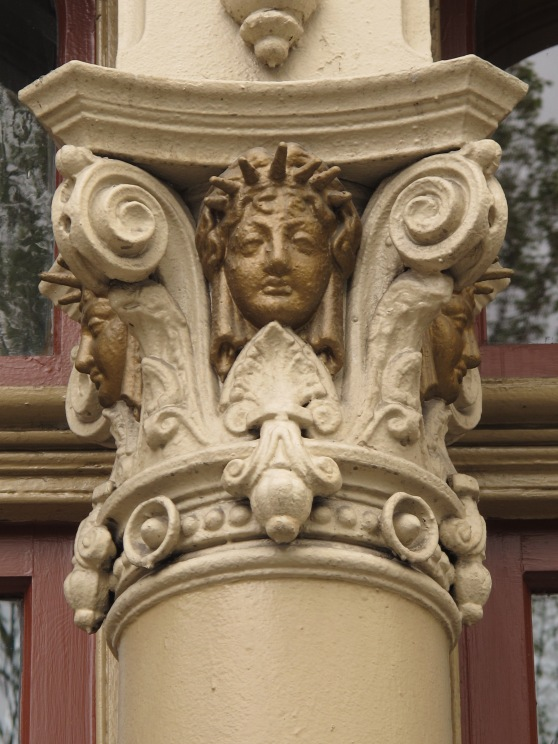 Decorative column of the Merchants Hotel