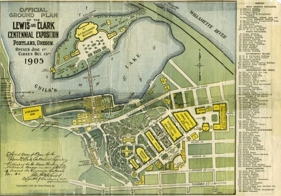 Official ground plan of the 1905 Lewis and Clark Exposition