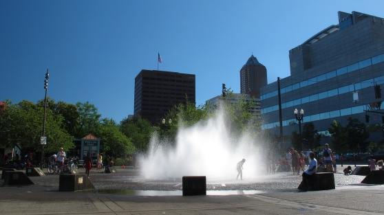 Salmon Street Springs Fountain on Misters