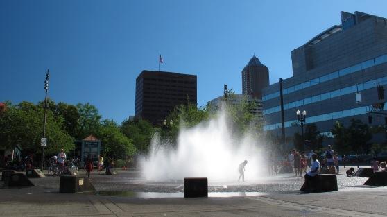 Salmon Street Springs Fountain on Misters