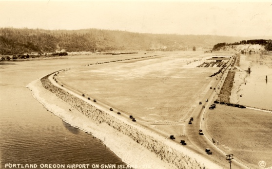 Swan Island Airport (Portland City Archives)