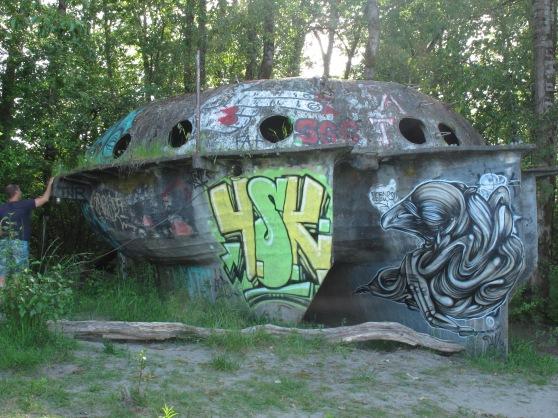 Graffiti and moss laden Sauvies Island Pleasure Craft