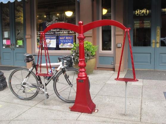 Scales of Justice custom bike rack