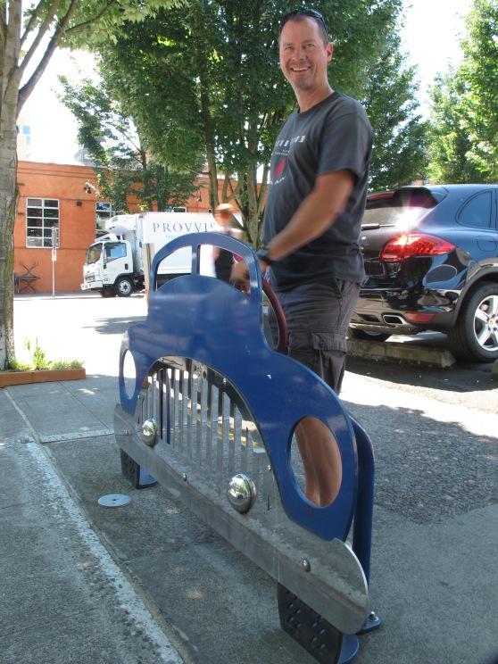 Sweet car custom bike rack