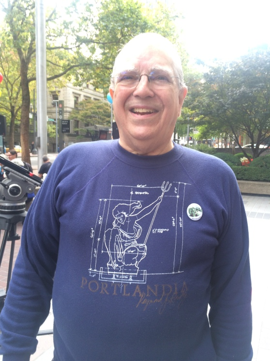 Charles Hall in his delightful sweatshirt, I so badly want one of these!