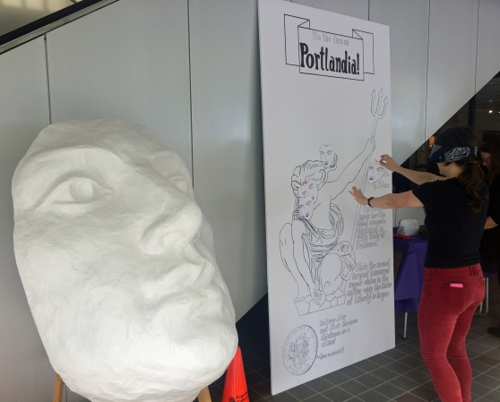 Pin the face on Portlandia