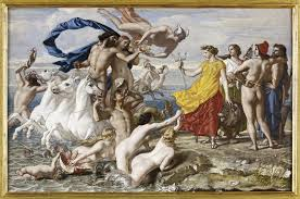 "William Dyce ""Neptune Resigning to Britannia the Empire of the Sea"""