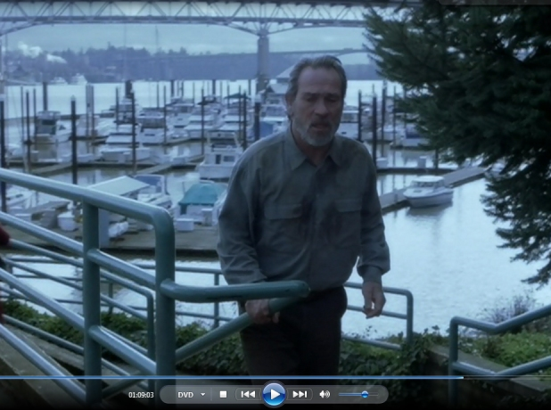 1.09.03 TLJ runs up stairs to Tom McCall Waterfront Park