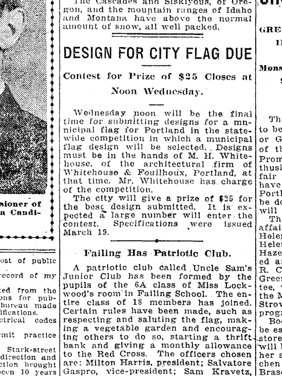 1917-4-15 Oregonian contest to design  city flag