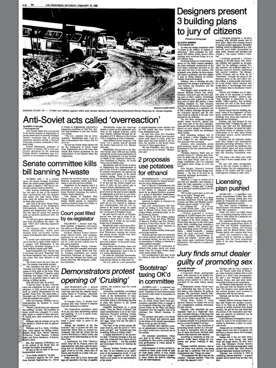 1980-2-16 Oregonian Designers present 3 building plans to jury of citizens