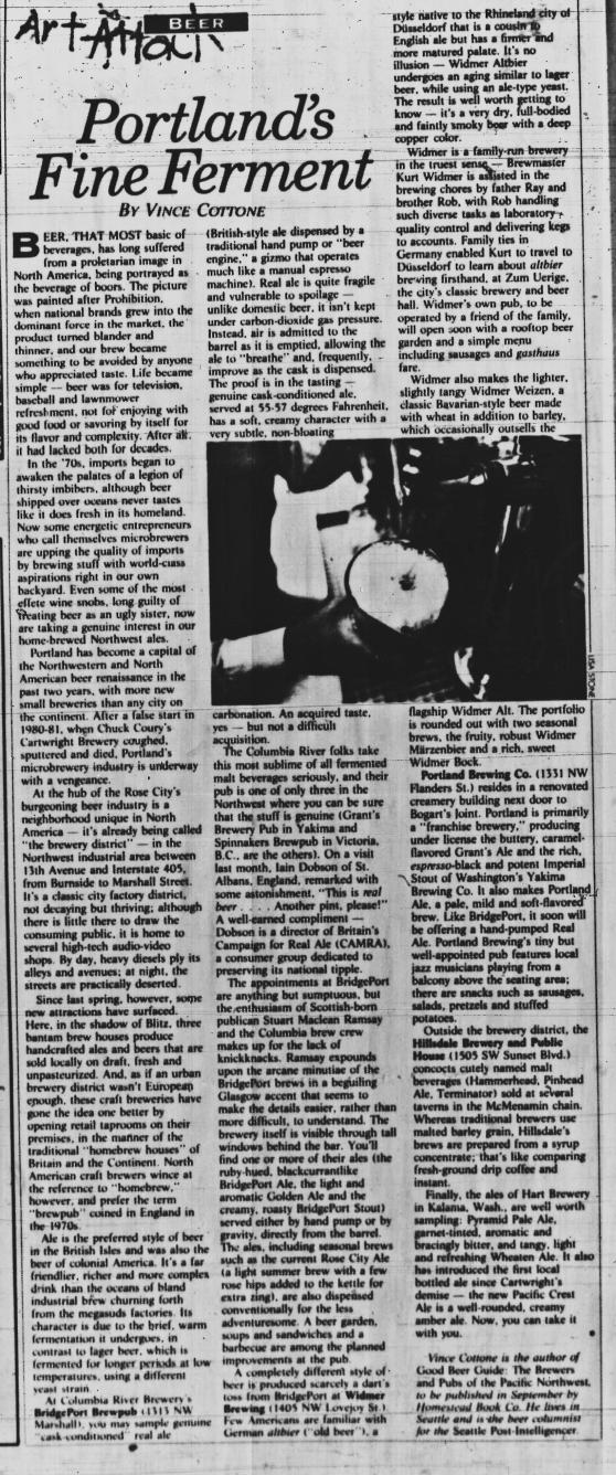 1986-8-28 WW Portland's Fine Ferment