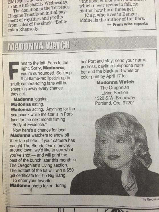1992-4- Oregonian Madonna