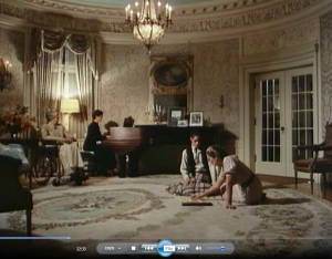 22.33 The girls hang out and play dominos while thier host plays piano in the Music Room Pittock (1982) Unhinged