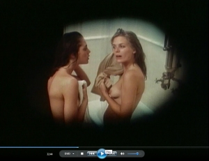 32.44 While Terry and Nancy take a shower a creep stares at them through a hidden peep hole Pittock (1982) Unhinged