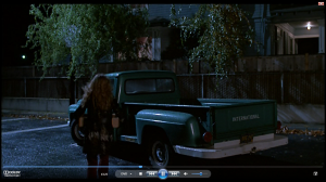 43.25 Nadine makes off will pills in parking lot behind pharmacy  - Drugstore Cowboy (1989)