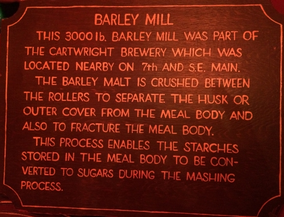 The Barley Mill plaque