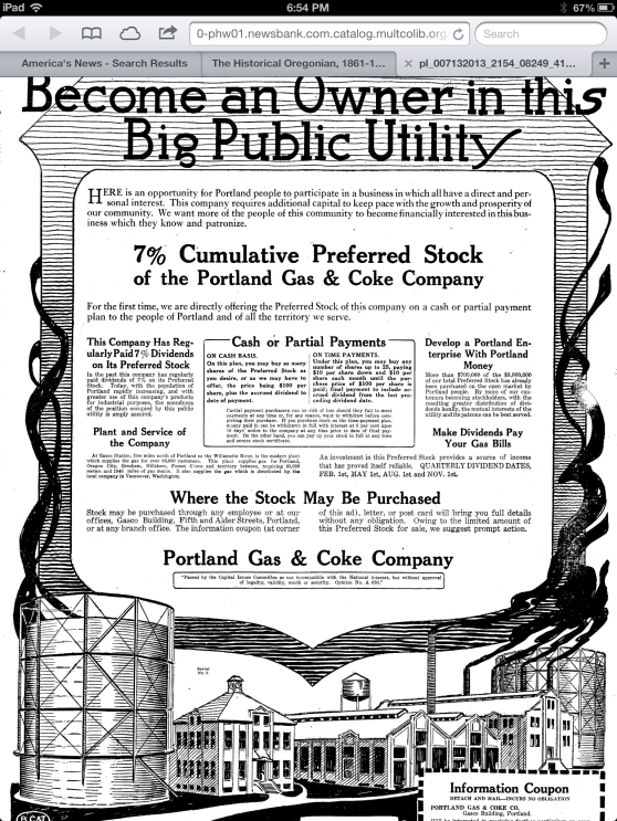 GasCo-Portland Gas and Coke
